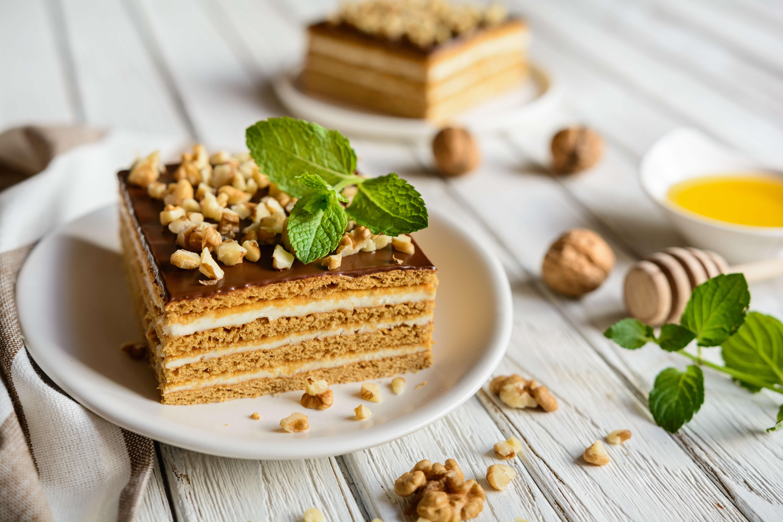 орехово-медовый торт