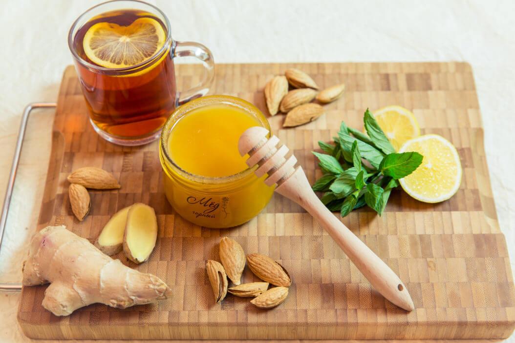 мед с имбирем и лимоном