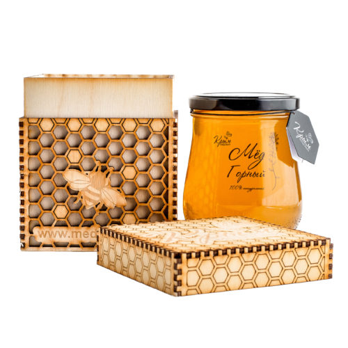 Мёд 640г в подарочной коробочке