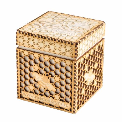 Подарочная коробочка для банки с мёдом