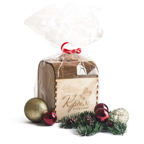 Подарочная коробочка для банки с мёдом 300г