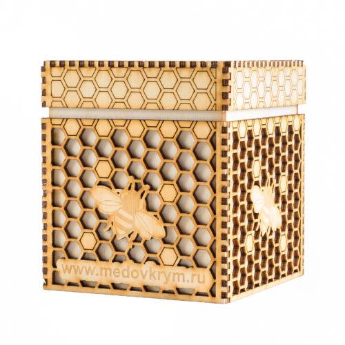 Подарочная коробочка для банки с мёдом 640г