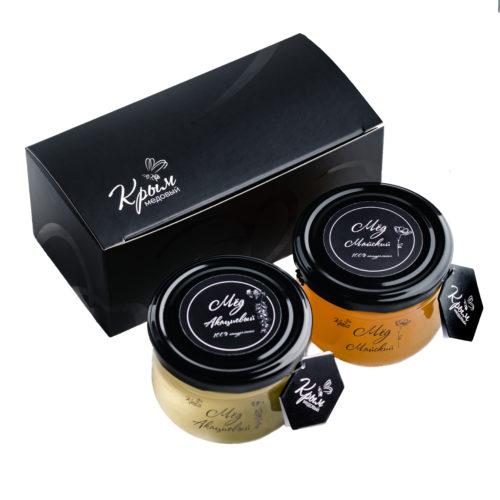 Коробочка для 2-х баночек с мёдом по 300г