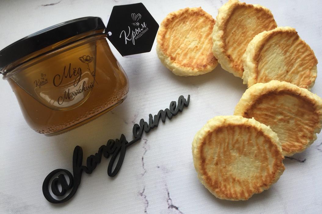 Творожно-кокосовое печенье с мёдом