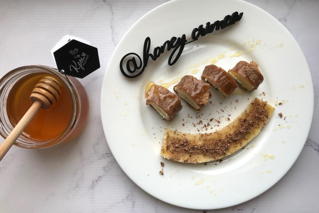 Сладкие роллы с мёдом